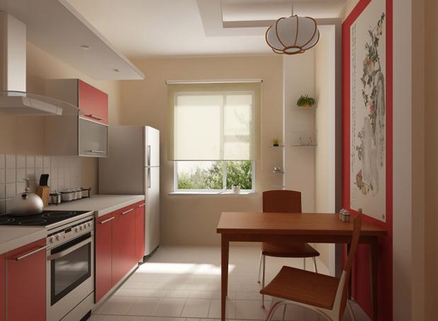 Кухня 9 квадратных метров